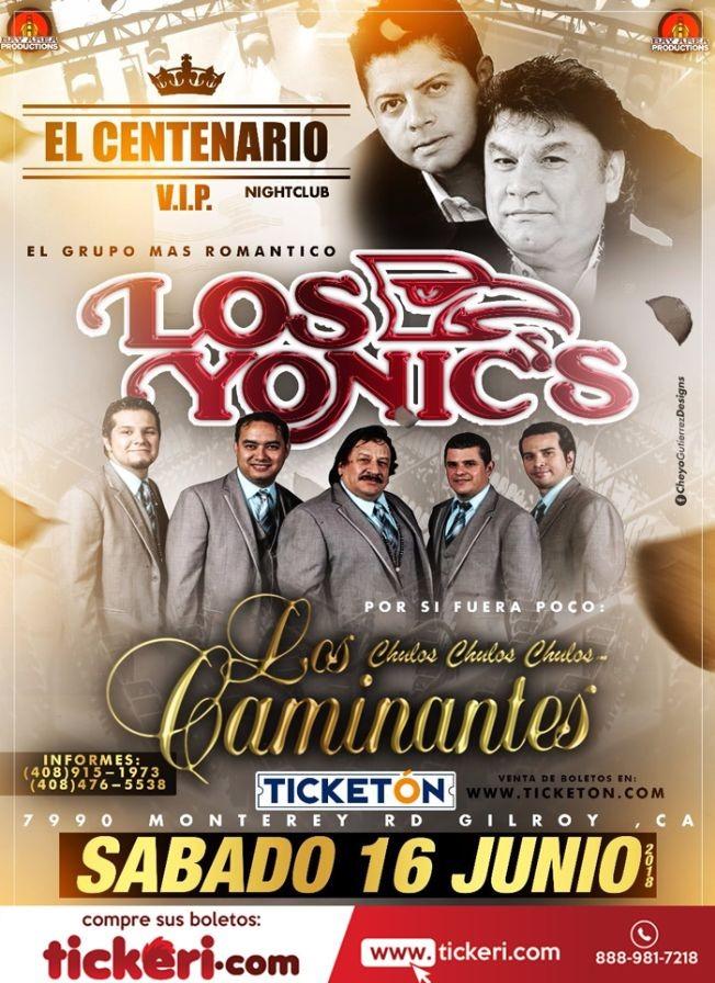 Flyer for Los Yonics & Los Caminantes