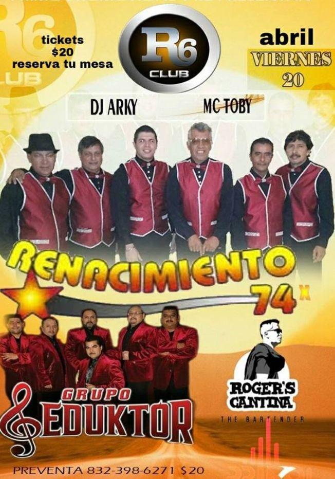 Flyer for RENACIMIENTO 74