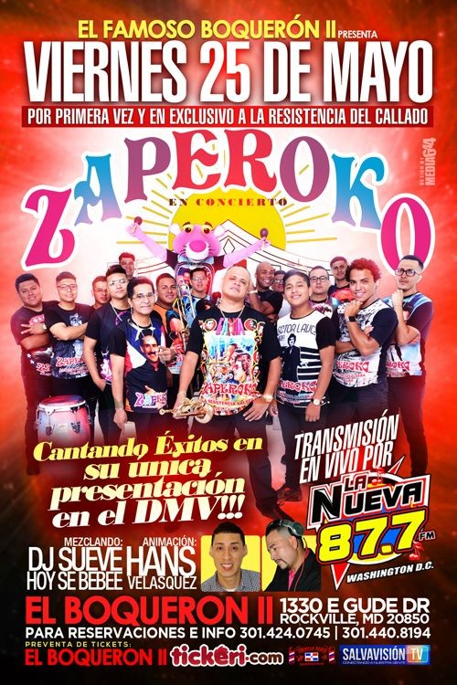 Flyer for Zaperoko en Rockville MD