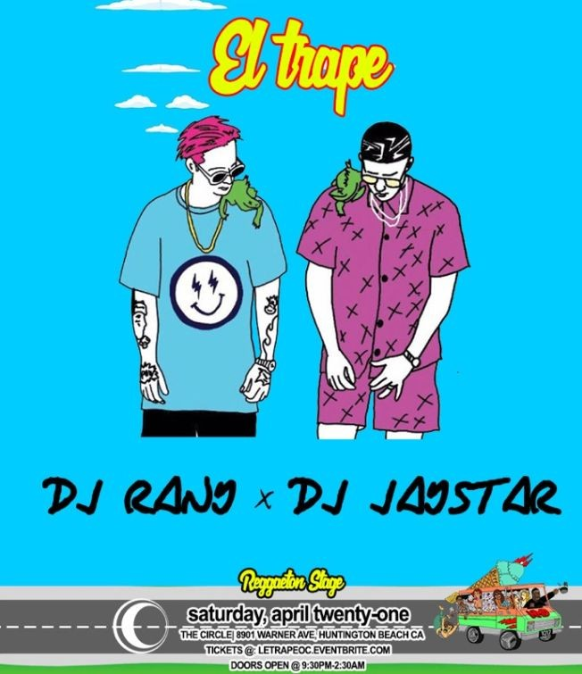 Flyer for Le Trape 18+ Bad Bunny After Party