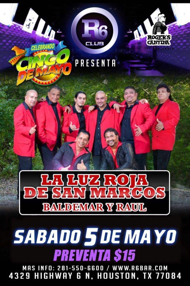 Flyer for La Luz Roja de San Marcos de Baldemar y Raul