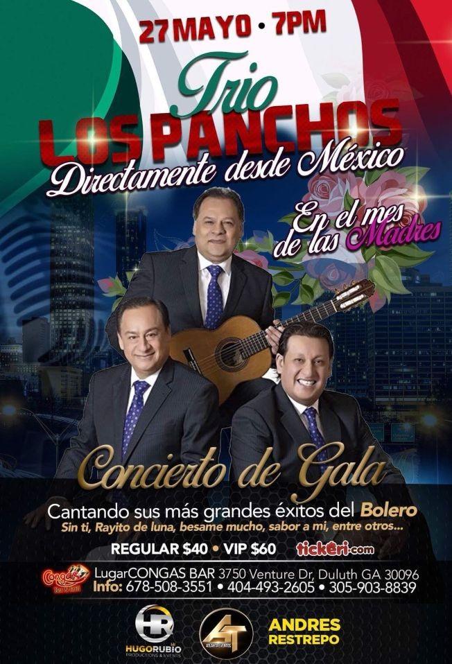 Flyer for Trio Los Panchos en Duluth,GA