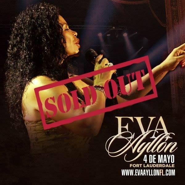 Flyer for *SOLD OUT* Eva Ayllon en Fort Lauderdale,FL