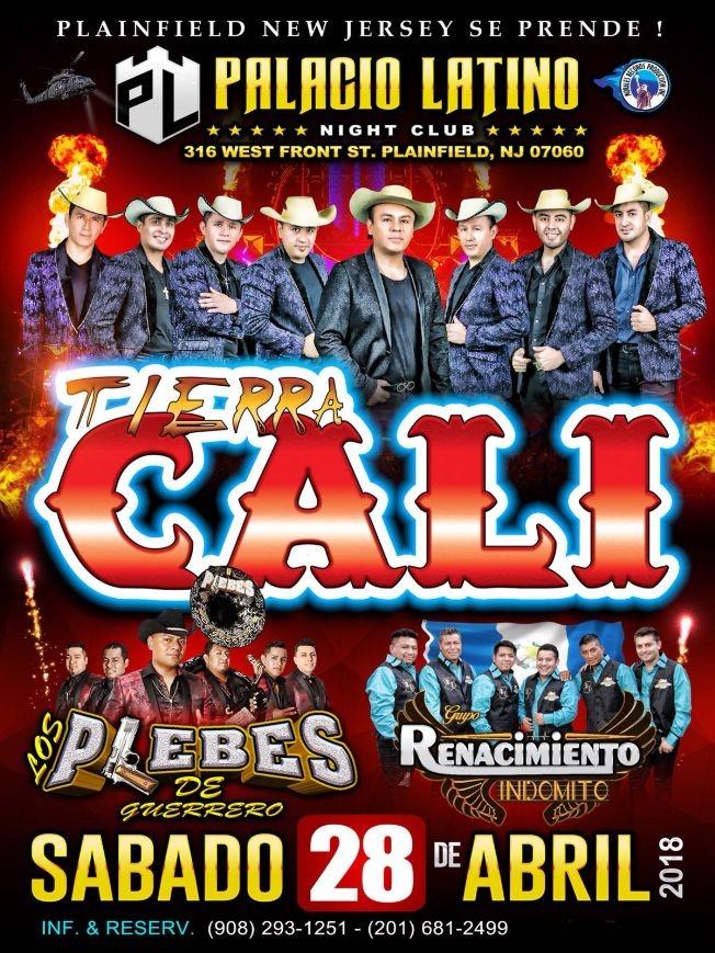 Flyer for Tierra Cali en Plainfield NJ