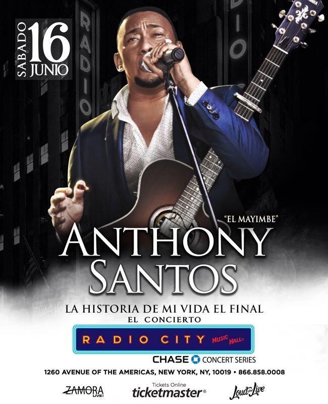 Flyer for Anthony Santos en New York