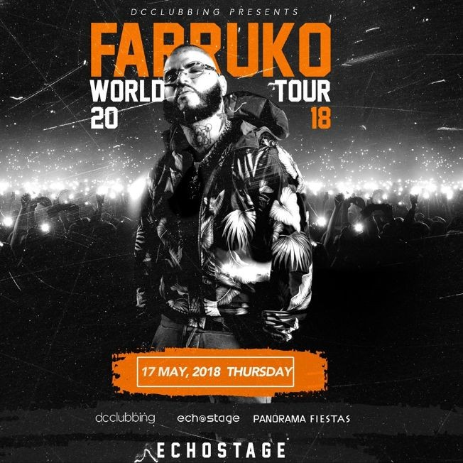 Flyer for Farruko en Washington DC