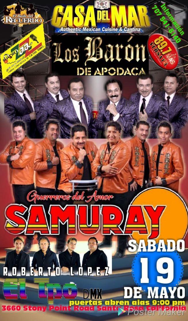 Flyer for Guerreros del Amor Samuray & Roberto Lopez en Santa Rosa,CA