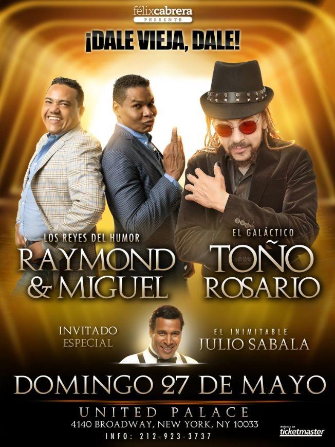 Flyer for Toño Rosario y Raymond & Miguel in  New York CANCELADO