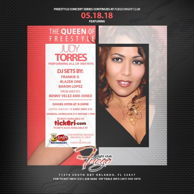 Flyer for Freestyle Concert Series Featuring Judy Torres
