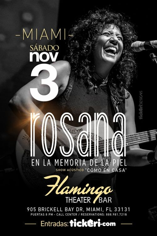 Flyer for Rosana en Miami