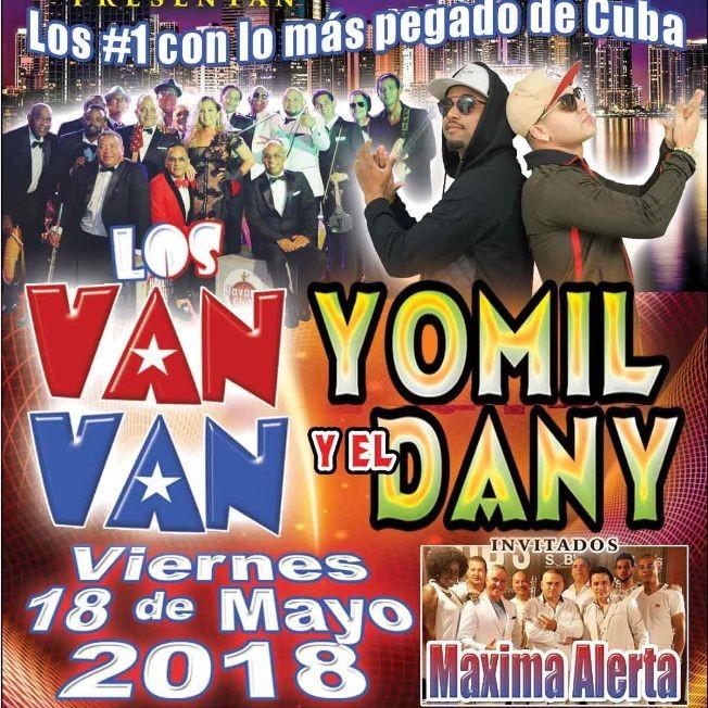 Flyer for Los Van Van con Yomil y El Dany