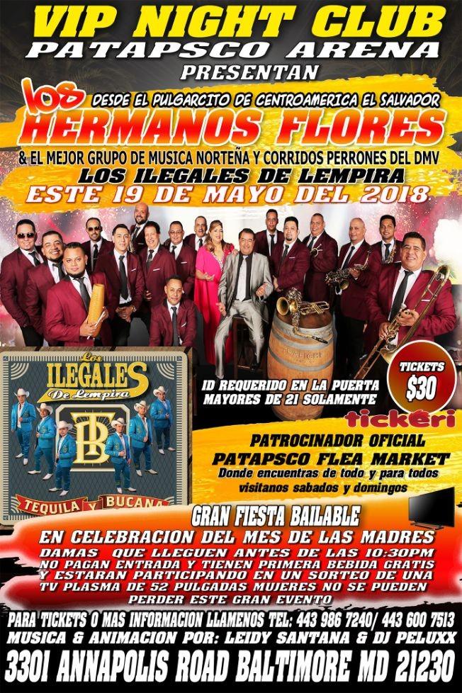 Flyer for LOS HERMANOS FLORES