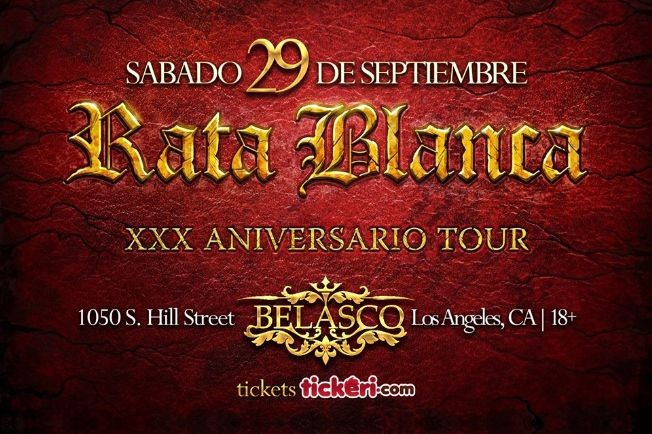 Flyer for Rata Blanca en Los Angeles