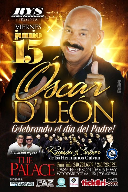 Flyer for Oscar D' Leon