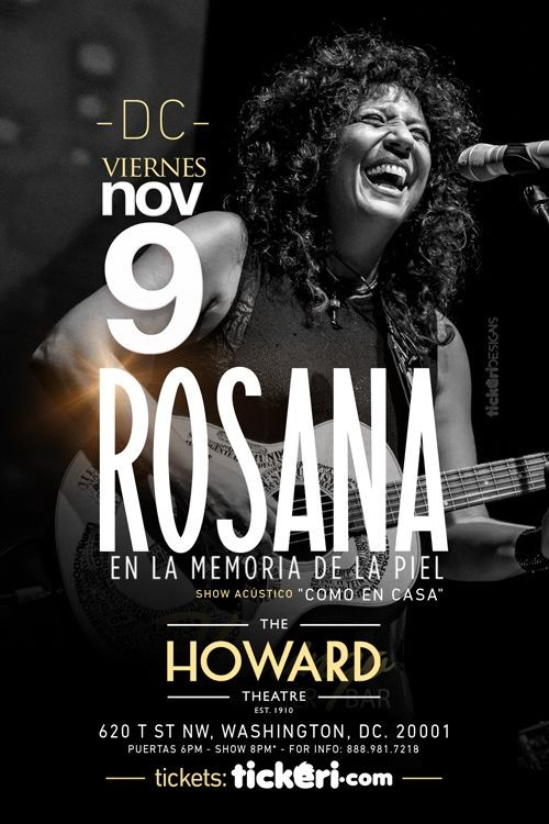 Flyer for Rosana en Washington DC