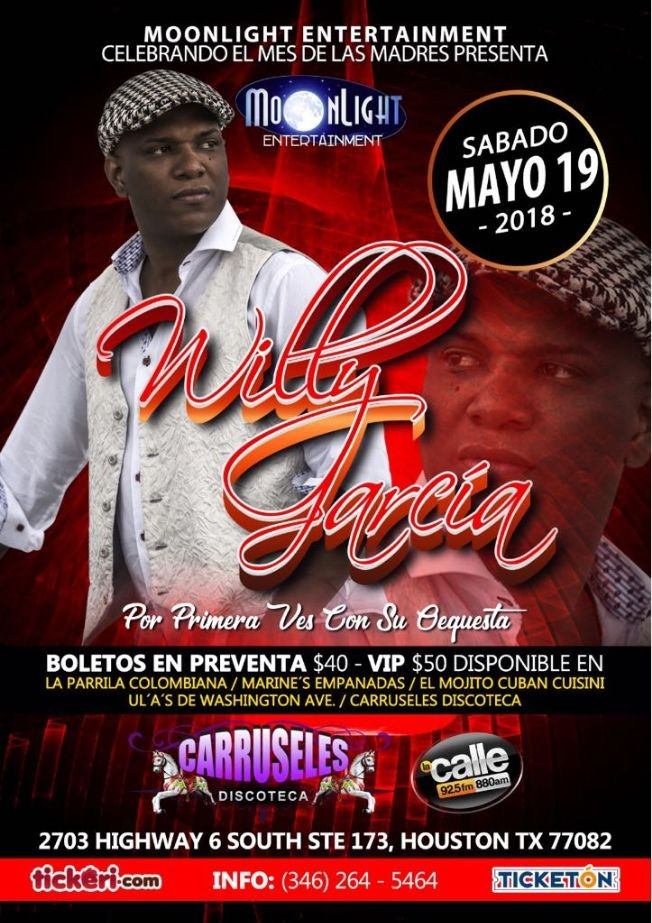 Flyer for Willy Garcia