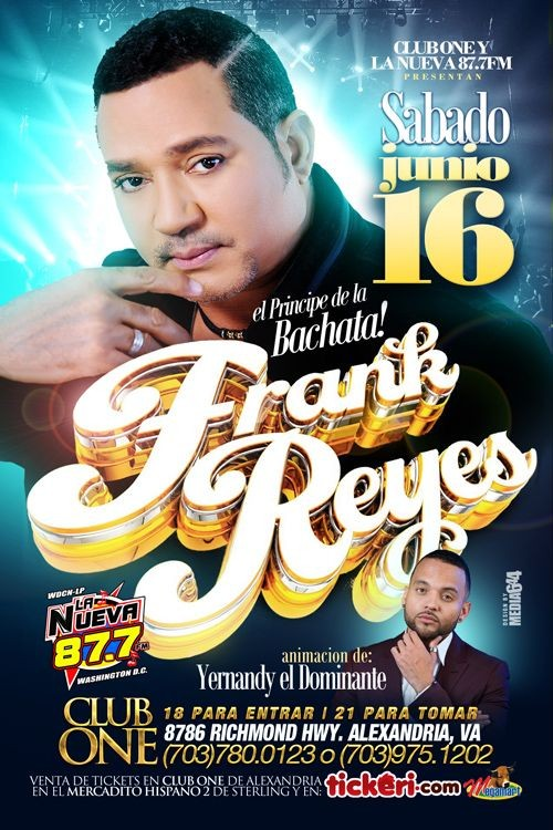 Flyer for Frank Reyes