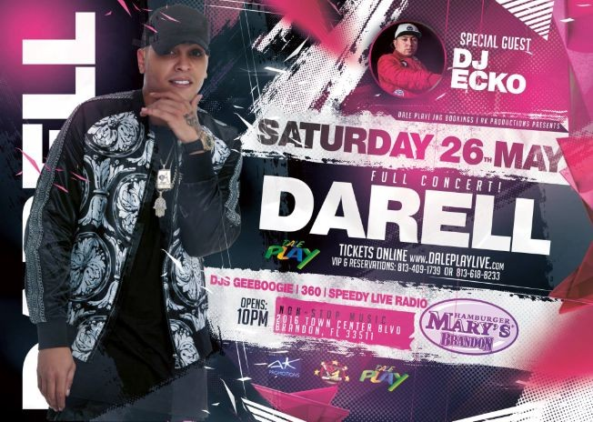 Flyer for Darell Live In Concert