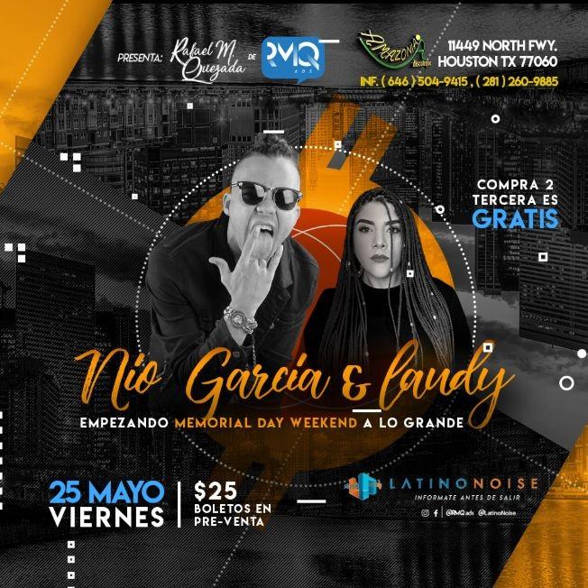 Flyer for Nio Garcia & Laudy