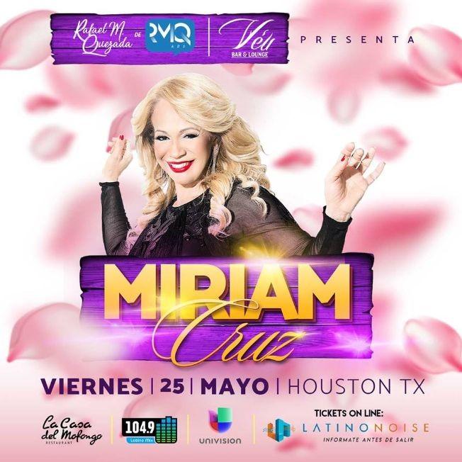 Flyer for Miriam Cruz (Ex Chicas Del Can)