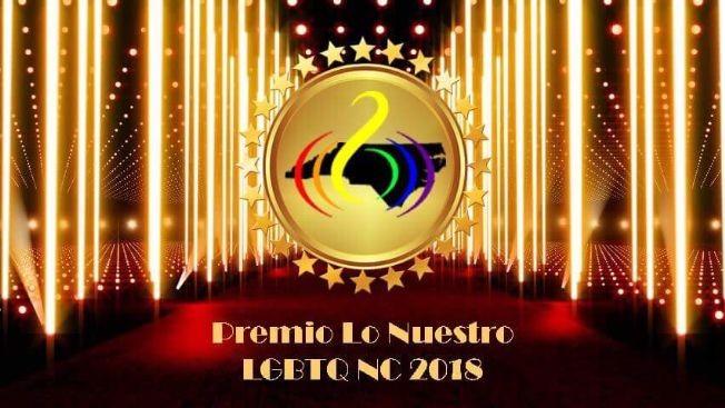 Flyer for Premio Lo Nuestro LGBTQ NC 2018