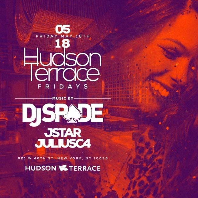 Flyer for Hudson Terrace Fridays At Hudson Terrace