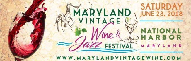 Flyer for Maryland Vintage Wine & Jazz Festival