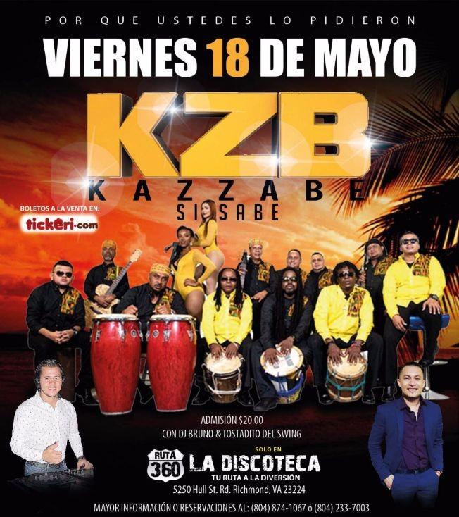 Flyer for KZB KAZZABE si Sabe en Richmond,VA