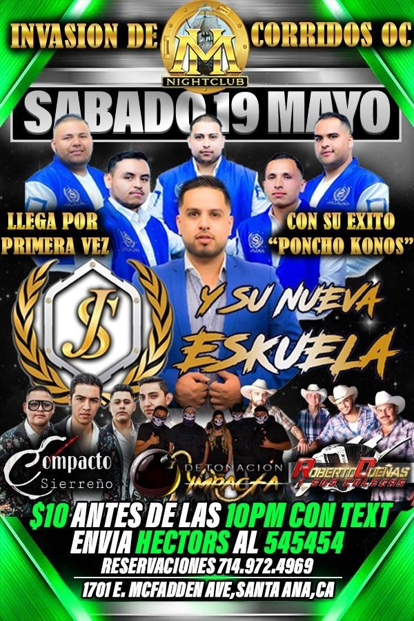 Flyer for JR SALAZAR POR PRIMERA VEZ! Y MAS!
