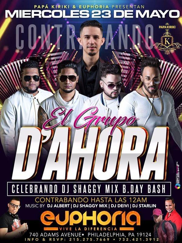 Flyer for El Grupo D'Ahora en PA