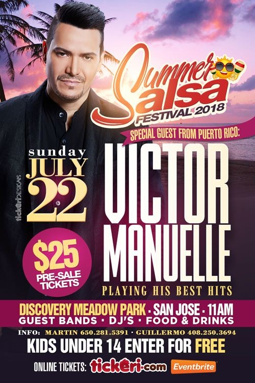 Flyer for Victor Manuelle en concierto @ Summer Salsa Festival 2018