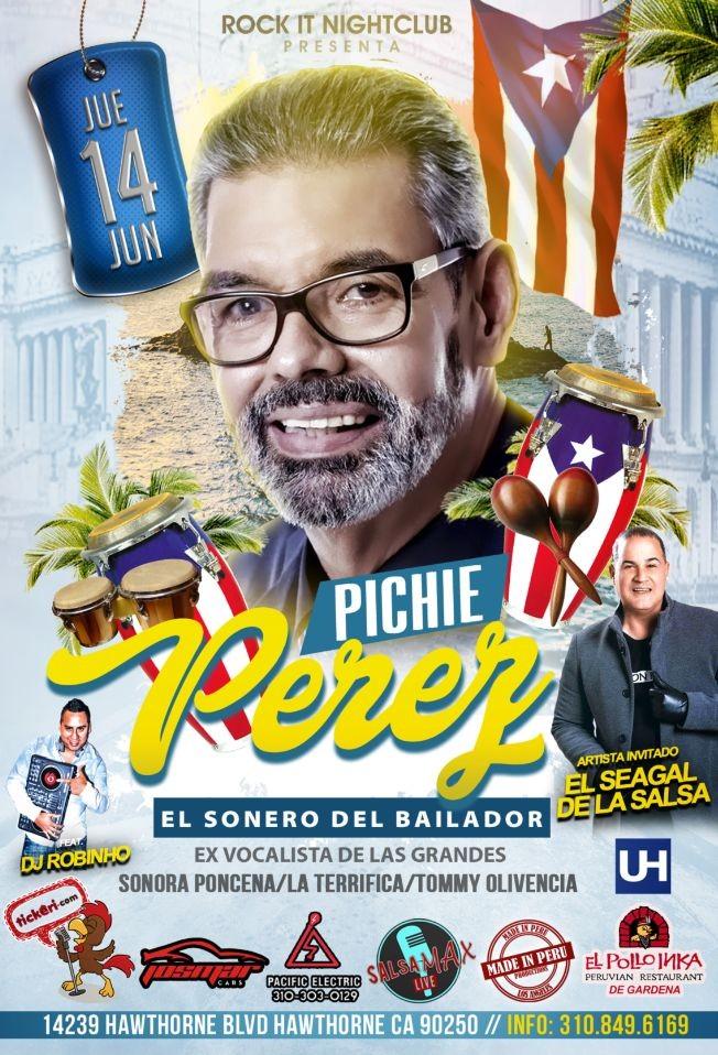 """Flyer for Hector """"Pichie"""" Perez en Los Angeles Ex Sonora Ponceña"""
