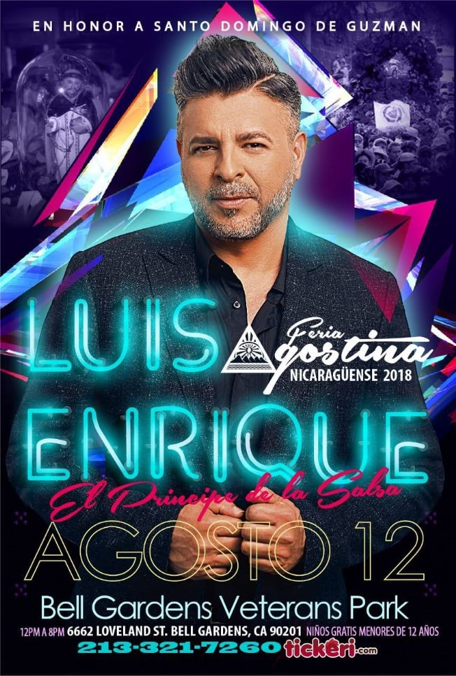 Flyer for Luis Enrique en Bell Gardens,CA