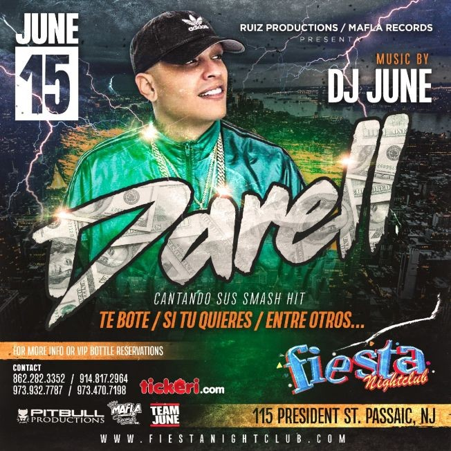 Flyer for Darell Live At Fiesta Nightclub
