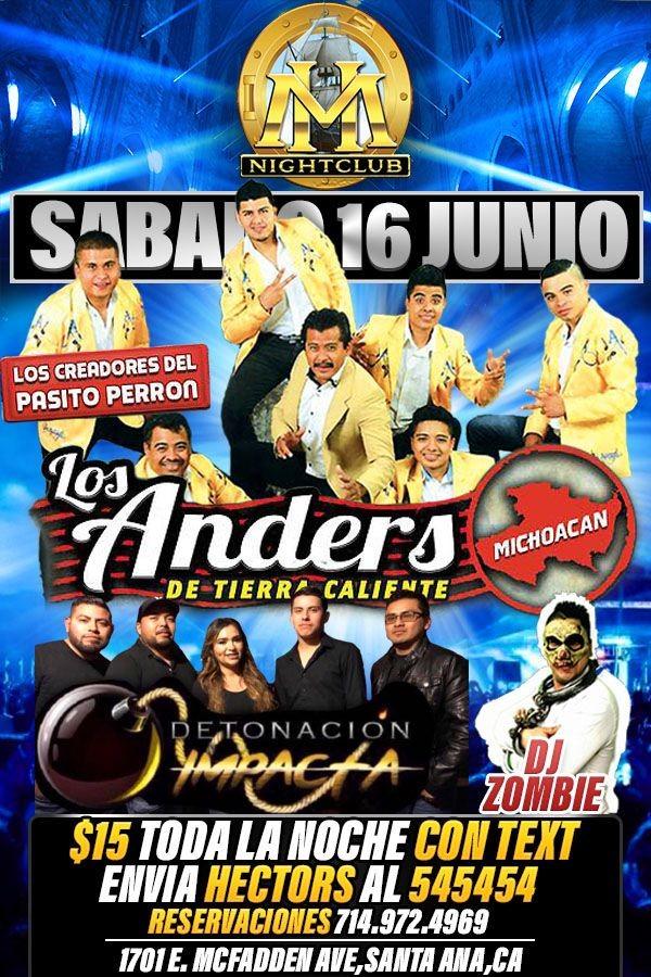 Flyer for LOS ANDERS DE TIERRA CALIENTE EN SANTA ANA, CA