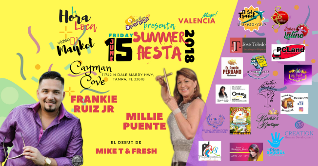 Flyer for Summer Fiesta 2018