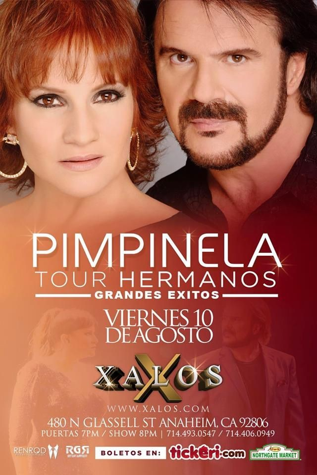 Flyer for Pimpinela en Anaheim