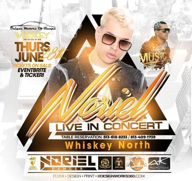 Flyer for Noriel Danger Live Concert