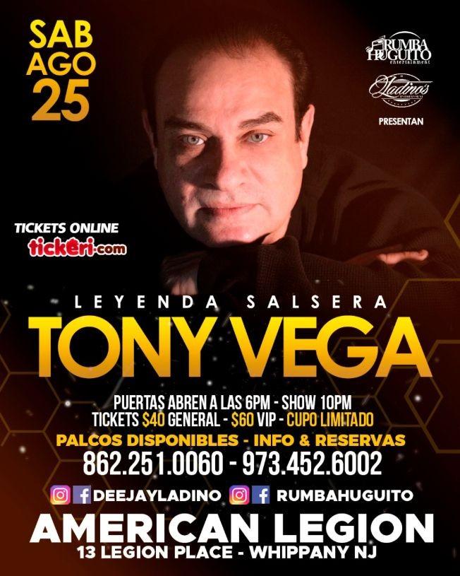 Flyer for TONY VEGA