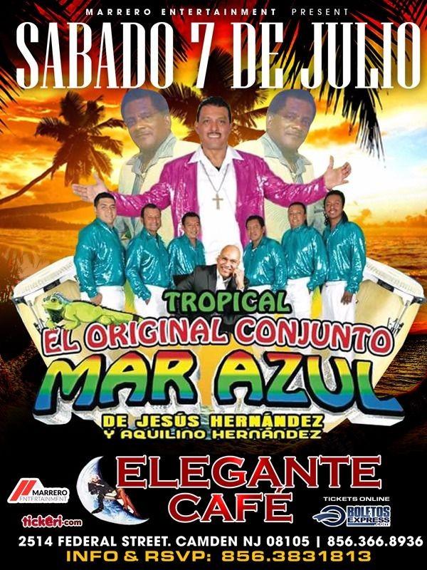 Flyer for Tropical El Orginical Conjunto Mar Azul en Camden,NJ