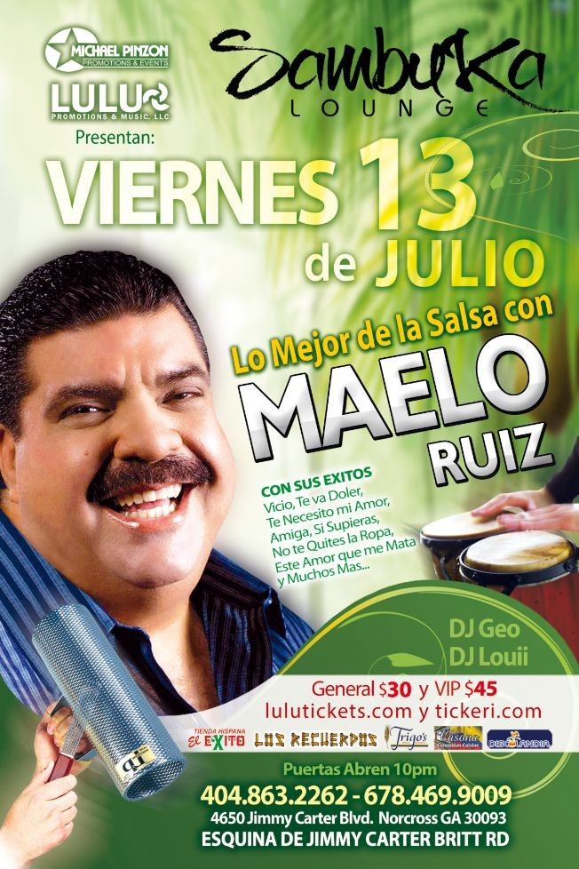 Flyer for Maelo Ruiz