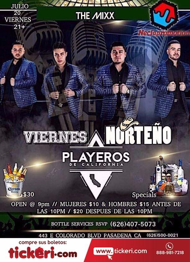 Flyer for Norteño Playeros de California en Pasadena,CA