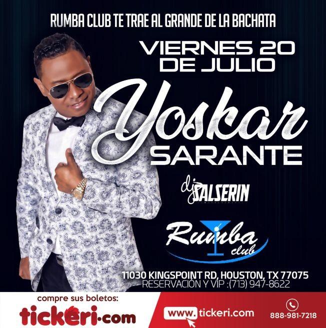 Flyer for Yoskar Sarante en Houston,TX