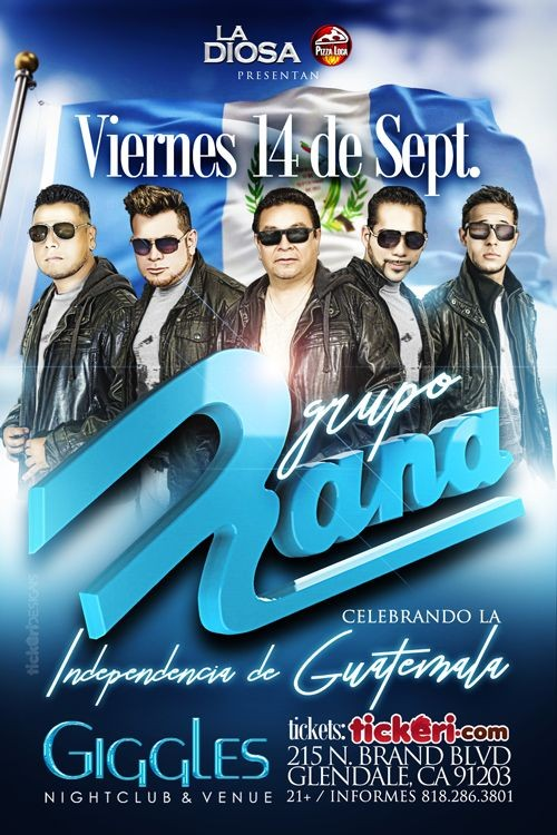 Flyer for GRUPO RANA EN LOS ANGELES
