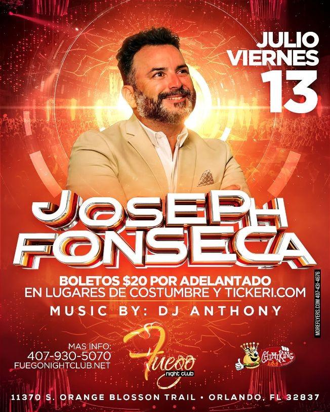 Flyer for Joseph Fonseca