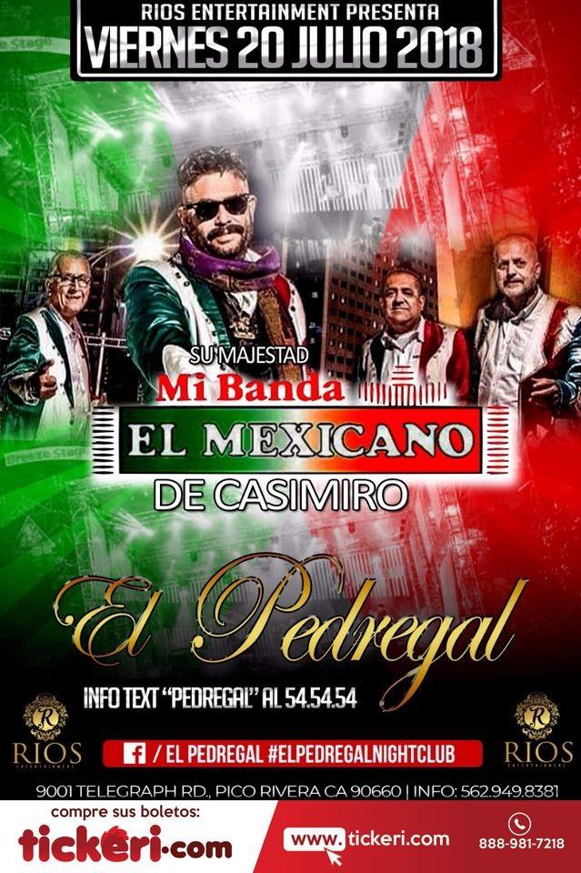 Flyer for Su Majestad Mi Banda El Mexicano de Casimiro en CA