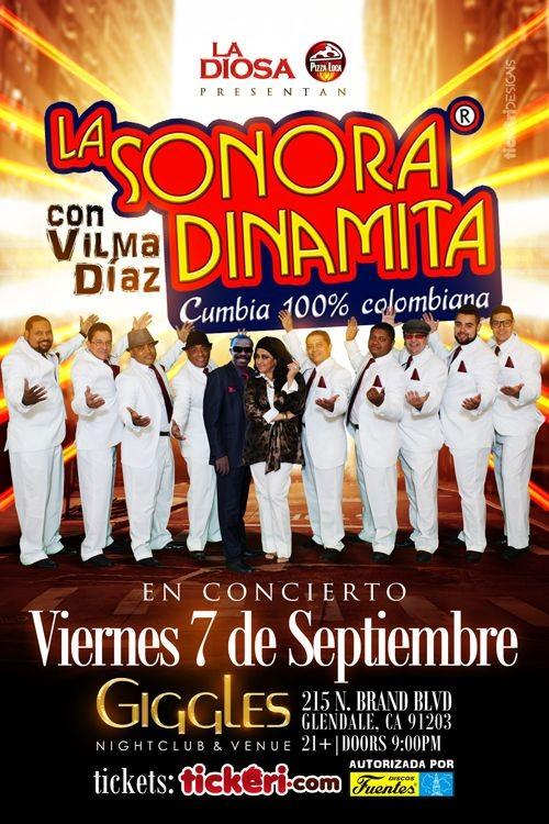 Flyer for LA SONORA DINAMITA EN LOS ANGELES