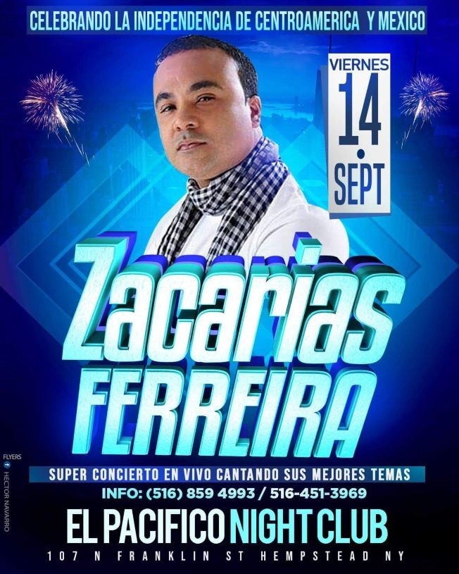 Flyer for Zacarias Ferreira en Hempstead,NY