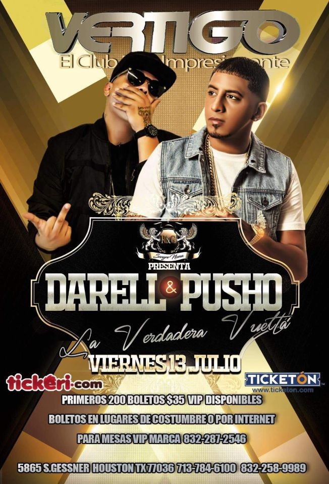 Flyer for Darell y Pusho