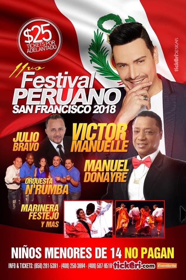 Flyer for 11vo Festival Peruano de San Francisco